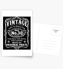 Vintage Aged To Perfection 30 Years Old Postcards