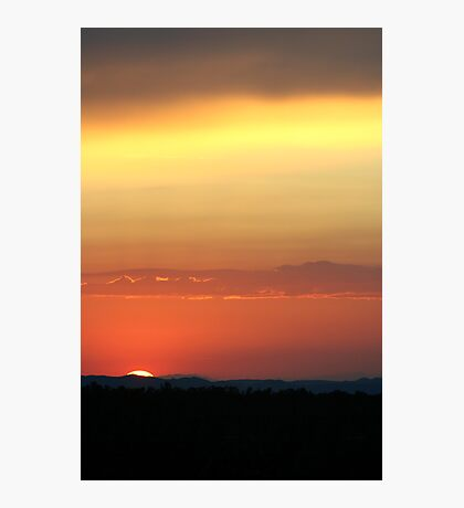 Cima Dome Sunset Photographic Print