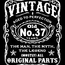 Vintage Aged To Perfection 37 Years Old by wantneedlove