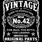 Vintage Aged To Perfection 42 Years Old by wantneedlove