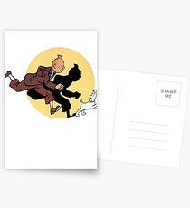 Tintin on the run Postkarten