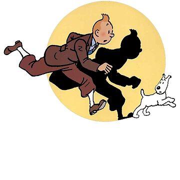 Tintin on the run by red-rawlo