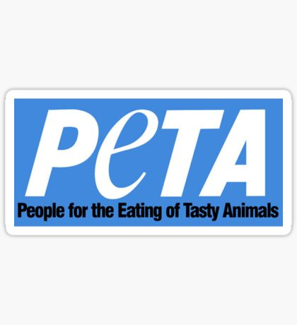 people for the eating of tasty animals Sticker