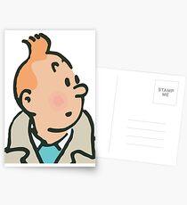 Tintin face Postcards
