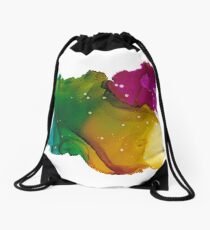 Alcohol Ink - Small Beauty Drawstring Bag