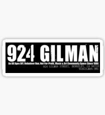 924 Gilman Street Sticker