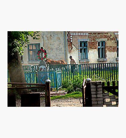 Scene from the village of Bieleh in Ukraine Photographic Print