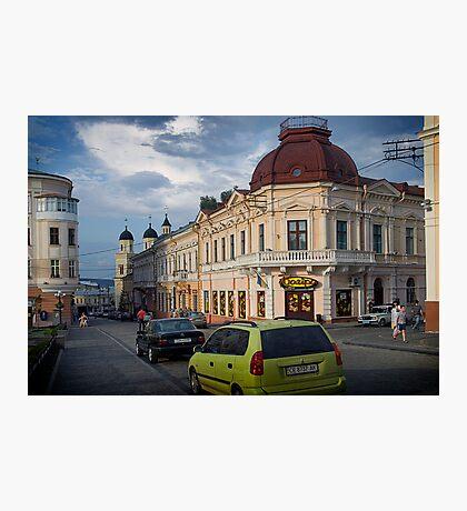Chernivtsi, Philharmonia Square Photographic Print