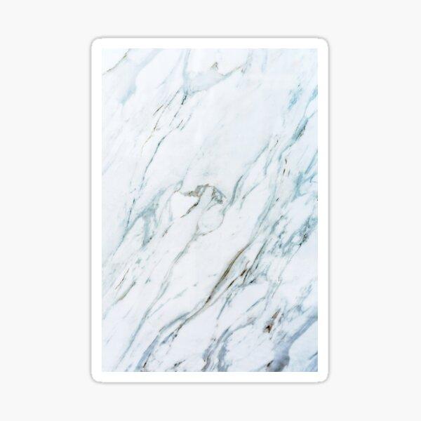White Marble Art Sticker
