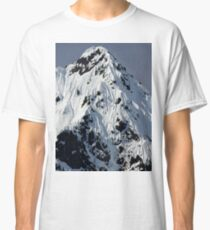 Sunny Snowy Mountain With Blue Sky Classic T-Shirt