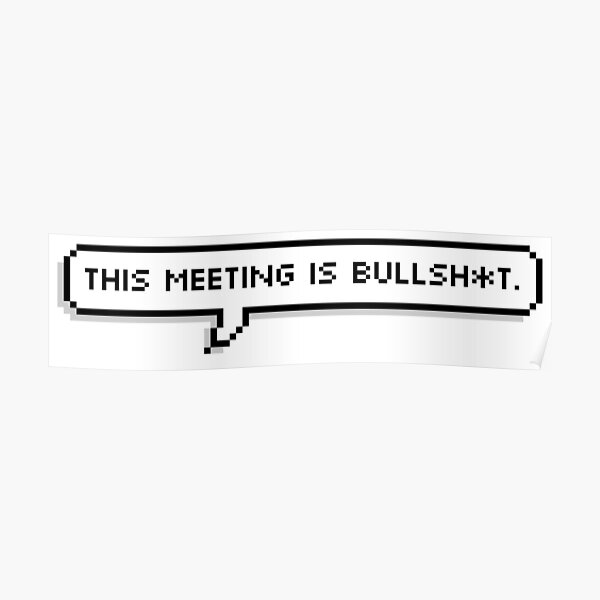This Meeting is Bullsh*t Poster