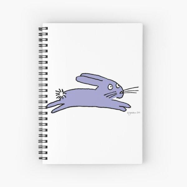 Purple leaping bun Spiral Notebook