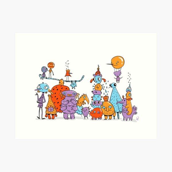 Big family Art Print