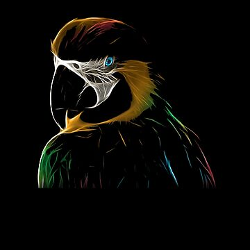 FOR THE LOVE OF PARROTS | Animal Art Design by CarlosV