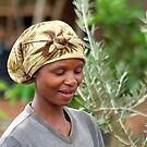CHILDREN OF AFRICA , THE YOUNG AND THE OLD, SERIES, WOMAN AT WORK by Magriet Meintjes