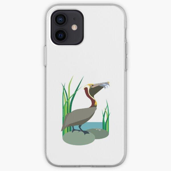 Brown Pelican #4 iPhone Soft Case