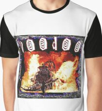 Top Fuel Dragster Fire Burnout Voodoo Graphic T-Shirt