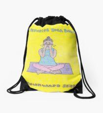 Downward Spiral Drawstring Bag