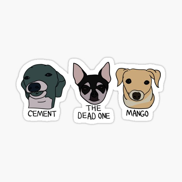 Cement, The Dead One and Mango (Sticker Pack) Sticker