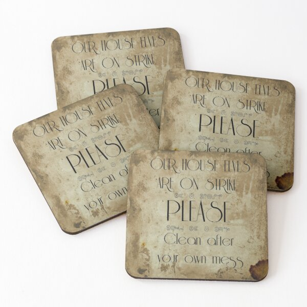 Clean up! Coasters (Set of 4)