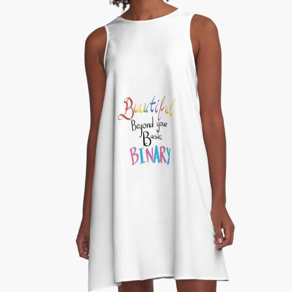 Beautiful Beyond Basic Binary A-Line Dress