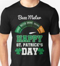 HAPPY ST PATRICK'S DAY buzz meter Unisex T-Shirt