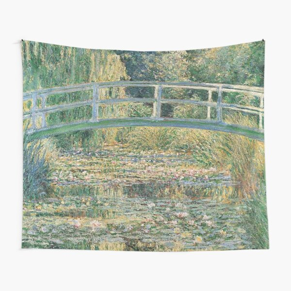 HD. The Water Lily Pond, by Claude Monet. HIGH DEFINITION  Tapestry