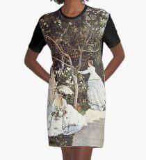 HD. Women in the garden, by Claude Monet. HIGH DEFINITION  Graphic T-Shirt Dress
