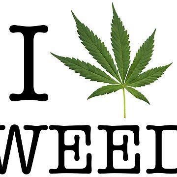 I heart weed - Legalize medical marijuana cannabis by peter2art
