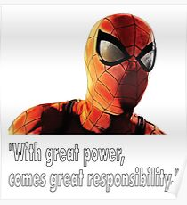 Spider-Man - Movie Quotes Poster