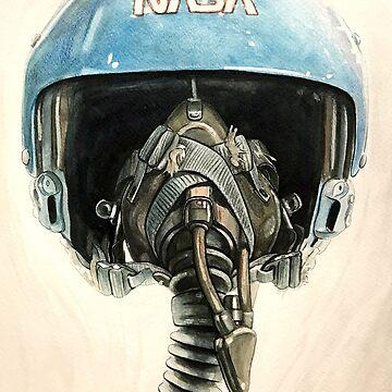 Sally Ride Aviator Helmet by photonart