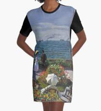 HD. Garden at Sainte-Adresse, by Claude Monet. HIGH DEFINITION  Graphic T-Shirt Dress