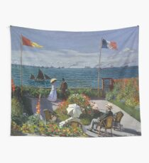 HD. Garden at Sainte-Adresse, by Claude Monet. HIGH DEFINITION  Wall Tapestry