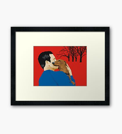 the dachshund whisperer Framed Print