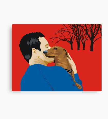 the dachshund whisperer Canvas Print