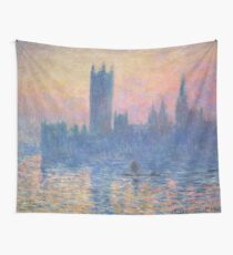 HD. The Houses of Parliament, Sunset, by Claude Monet. HIGH DEFINITION  Wall Tapestry