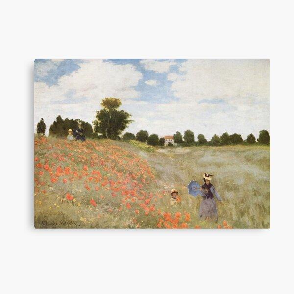 HD. Las amapolas (Les Coquelicots), de Claude Monet. ALTA DEFINICIÓN Lienzo
