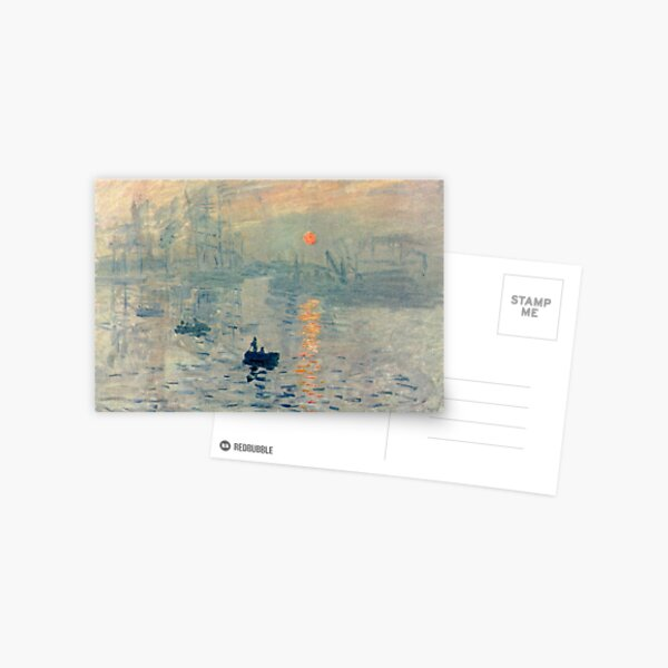 HD. Impression, Sunrise, by Claude Monet. HIGH DEFINITION  Postcard