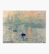 HD. Impression, Sunrise, by Claude Monet. HIGH DEFINITION  Photographic Print