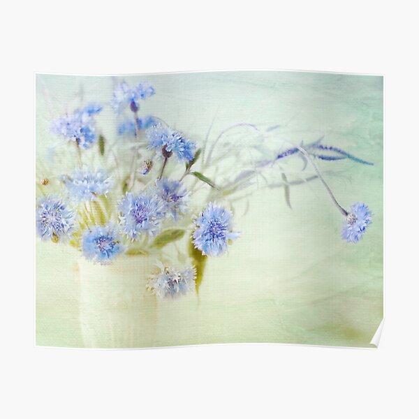 """""""Summer Flowers on White Linen"""" Poster"""