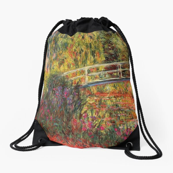 HD. Water Lily Pond, by Claude Monet. HIGH DEFINITION  Drawstring Bag