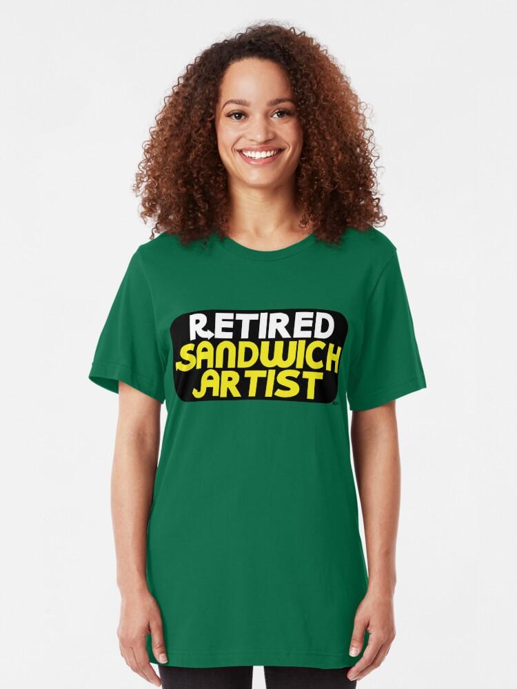Alternate view of Retired Sandwich Artist Slim Fit T-Shirt
