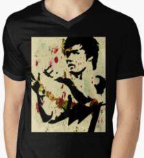 BRUCE LEE T-Shirt mit V-Ausschnitt