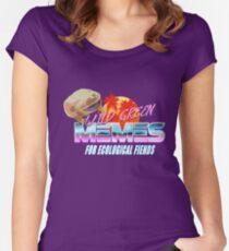 Wednesday Frog Vaporwave Logo Fitted Scoop T-Shirt