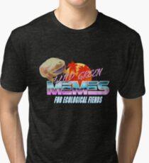 Wednesday Frog Vaporwave Logo Tri-blend T-Shirt