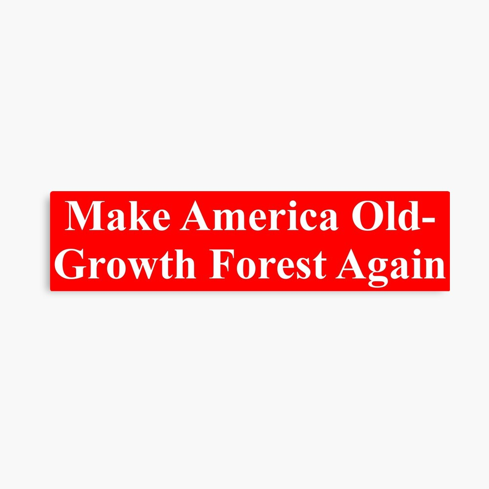 Make America Old-Growth Forest Again Canvas Print