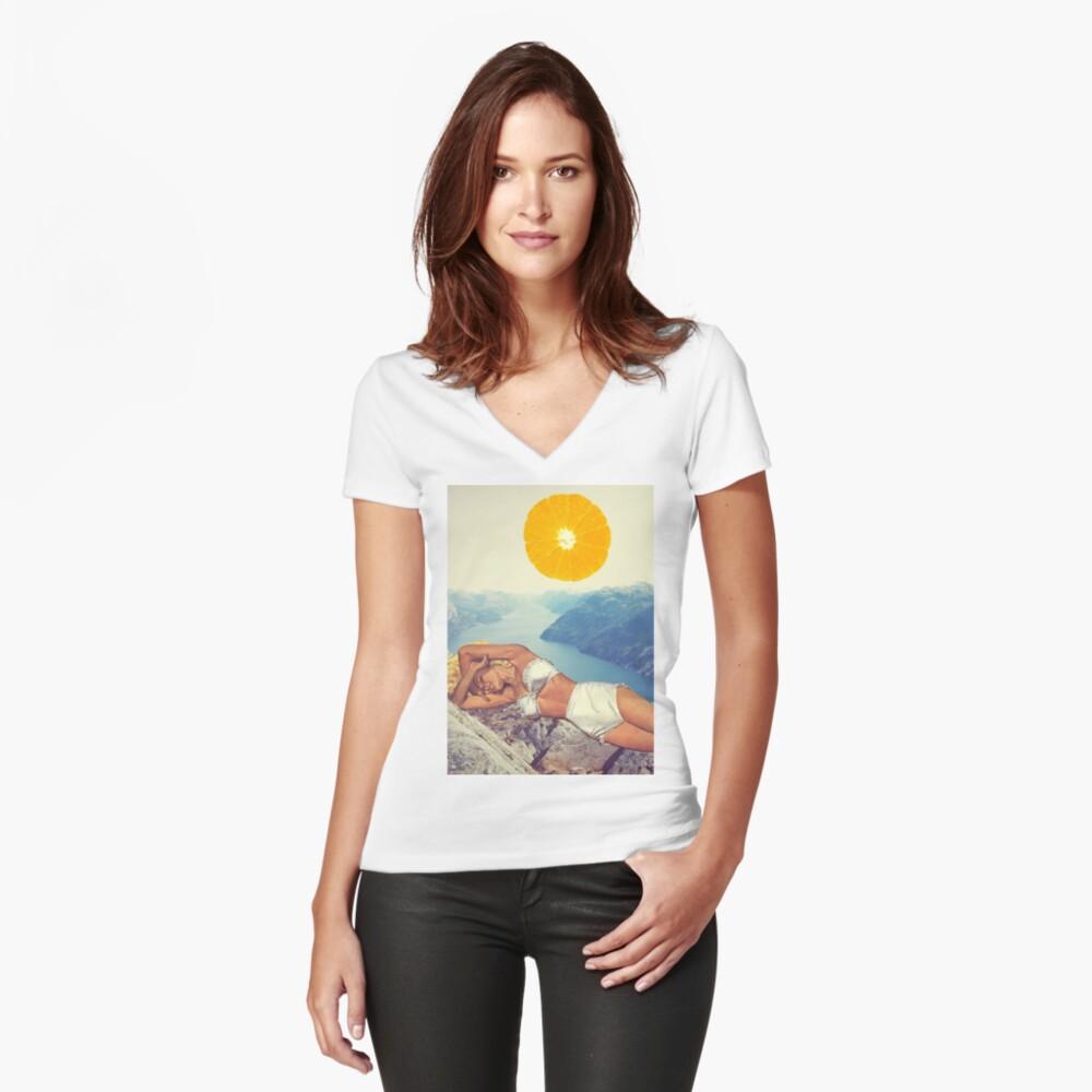 Vitamin Fitted V-Neck T-Shirt