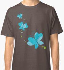 FLUTTERBY BUTTERFLY :: aqua + foam + lime Classic T-Shirt