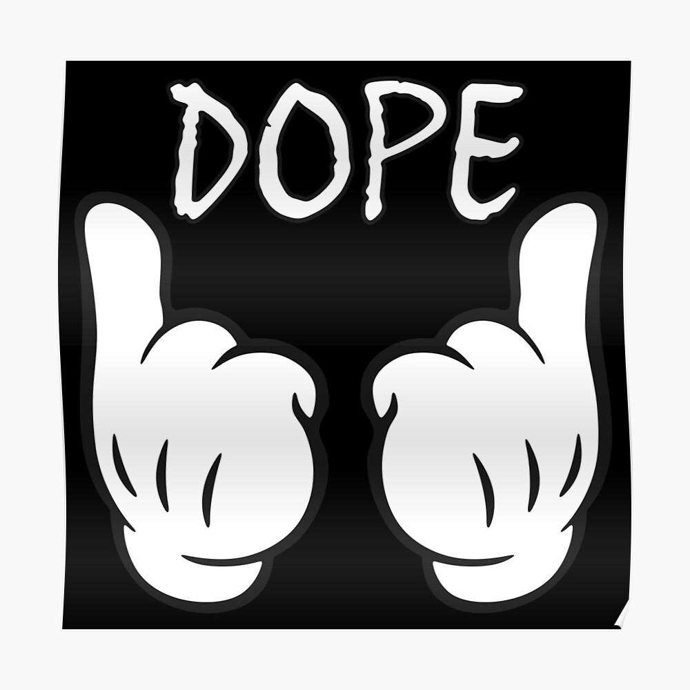 Dope bull hands poster by blubberblood redbubble