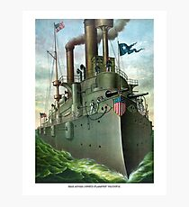 Admiral Dewey's Flagship Olympia Photographic Print